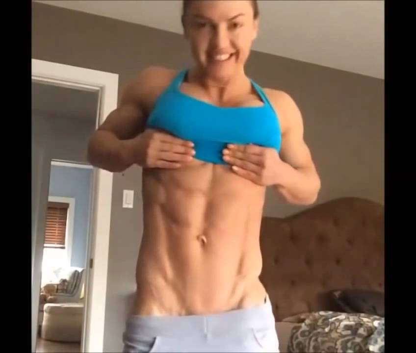 Eleonora-Dobrinina-Flexing-Abs-Legs-Butt-and-Chest-Female-Muscle